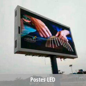 Postes LED publicitarios – Exterior (outdoor)